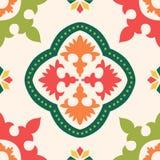 Naadloze kleurrijke ornamenttegels Stock Foto