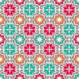 Naadloze kleurrijke ornamenttegels Royalty-vrije Stock Foto's