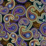 Naadloze kleurrijke Paisley achtergrond Royalty-vrije Stock Foto