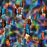 Naadloze kleurrijke veer abstracte druk royalty-vrije illustratie