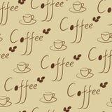 Naadloze koffie Royalty-vrije Stock Afbeelding