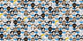 Naadloze koor de zangers herhalen achtergrond vector illustratie