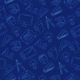 Naadloze Krabbel - Grafisch Ontwerp Stock Afbeeldingen