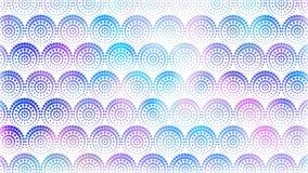 Naadloze lichte achtergrond met cirkels, punten geometrisch patroon Van een lus voorzien 4K-grafische motie vector illustratie