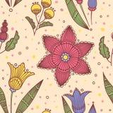 Naadloze lichte gestreepte bloemen Royalty-vrije Stock Afbeelding
