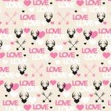 Naadloze liefde vertaalhuwelijk en valentijnskaartillustratie Stock Afbeelding