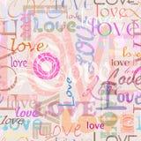 Naadloze liefdeachtergrond Stock Afbeelding