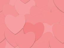 Naadloze liefdeachtergrond met rode harten Royalty-vrije Stock Afbeelding