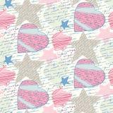 Naadloze liefdebrieven Stock Afbeeldingen