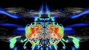 Naadloze lijn: Fantasie blauwe geweven abstracte vorm en lichte deeltjes in organische motie Technologie, wetenschap en vector illustratie