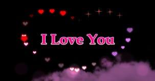 Naadloze lijn - Harten en Fonkelingen I van de Valentijnskaartendag Liefde u stock videobeelden