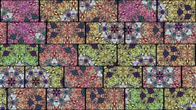Naadloze lijn van mozaïek de caleidoscopische vj stock videobeelden