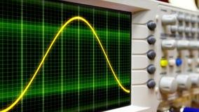 Naadloze lijnanimatie bewegende sinusgolf op een oscilloscoop stock footage