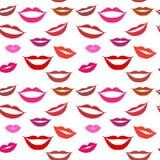 Naadloze lippen als achtergrond Stock Afbeelding