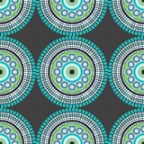 Naadloze Mandala Fabric Pattern Design Vector Illustratie