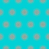 Naadloze mandalaachtergrond Stock Afbeelding