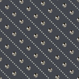 Naadloze metaal van de het patroontextuur van klinknagelsdiamanten vectorbackgro Stock Afbeeldingen