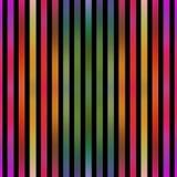 Naadloze metaaleffect kleurrijke strepen op zwarte Royalty-vrije Stock Afbeelding