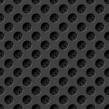 Naadloze metaaltextuur met gaten Royalty-vrije Stock Afbeeldingen