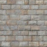 Naadloze Middeleeuwse bakstenen muur stock fotografie