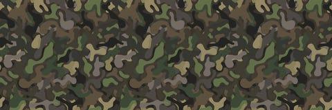 Naadloze militaire camouflage vectorachtergrond royalty-vrije illustratie
