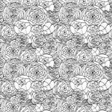 Naadloze modern het is zwart een wit patroon Stock Foto
