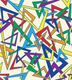 Naadloze multicolored driehoekenachtergrond Stock Foto's