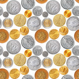 Naadloze muntstukken Royalty-vrije Stock Foto's