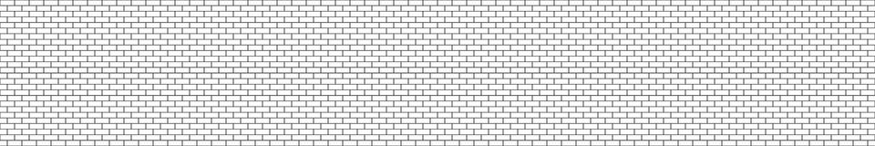 Naadloze muur van de panorama de zwart-witte structurele baksteen Royalty-vrije Stock Foto's