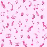 Naadloze muzikale achtergrond Royalty-vrije Stock Afbeeldingen