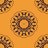 Naadloze Oient Geïnspireerde Textieldruk Royalty-vrije Stock Afbeelding