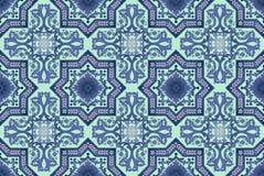 Naadloze oosterse patroonachtergrond Stock Fotografie