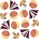 Naadloze Origami Stock Foto