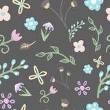 Naadloze ornament leuke bloemen royalty-vrije stock afbeelding