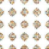 Naadloze ornament retro cirkels Royalty-vrije Stock Afbeelding