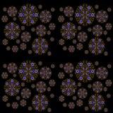 Naadloze ornamenten blauwe gele rug Royalty-vrije Stock Afbeelding