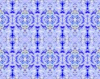 Naadloze ornamenten blauwe purpere violette geel Stock Fotografie
