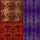 Naadloze oude luxe koninklijke textuur Royalty-vrije Stock Foto