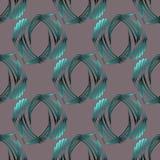 Naadloze ovale patroon zilveren grijze turkooise groene zwarte Royalty-vrije Stock Foto