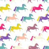 Naadloze paarden Stock Afbeeldingen