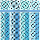 4 naadloze patronen Stock Afbeelding