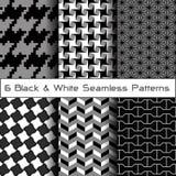 6 naadloze patronen Stock Afbeelding