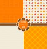 Naadloze patronen in Dalingskleuren en patroon op Thanksgiving day in retro stijl Royalty-vrije Stock Foto