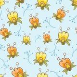 Naadloze patronen met bloemenvector Stock Foto's