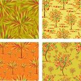 Naadloze patronen met decoratieve boom van mozaïek Stock Foto