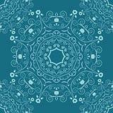 Naadloze Patronen met mandala geometrische ornamenten Uitstekende decoratieve elementen Hand getrokken tegelachtergrond Stock Fotografie