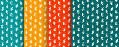 Naadloze patronen met muntsymbolen Vector Stock Fotografie