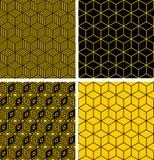 Naadloze patronen met optische illusieeffect. Royalty-vrije Stock Afbeeldingen
