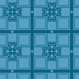 Naadloze patronen met samenvatting geschilderde vierkanten Stock Afbeelding
