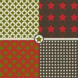 Naadloze patronen met sterren Stock Afbeeldingen